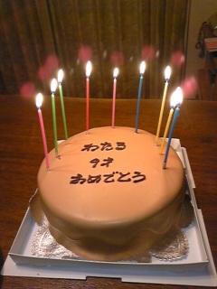 誕生日おめでとう(v^-<br />  ゜)